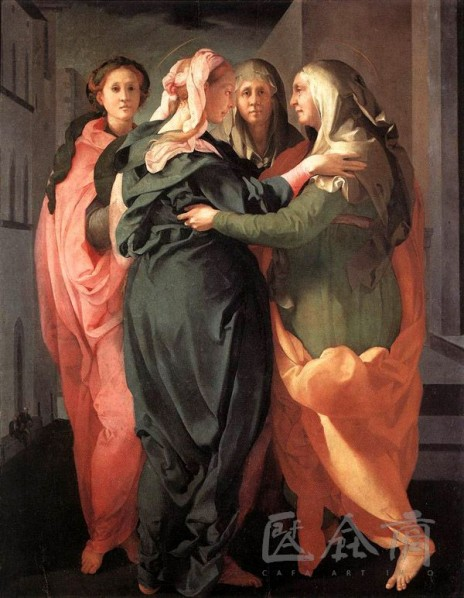 "Jacabo Pontormo, ""The Greeting"", 1528-1529, oil on board, 202 x 156 cm"