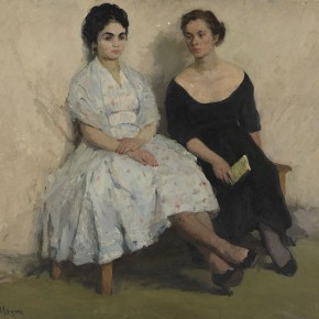 Li Jun Portrait of Double Women 1961 oil on canvas 100×114cm 290x290 - The 20th China's Art Road - Studying in the Soviet Union Inaugurated at National Art Museum of China