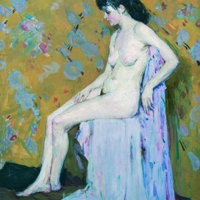 "Lin Gang ""Nude"" 1959 oil painting 140 x 105 cm Collection CAFA Art Museum  290x290 - The 20th China's Art Road - Studying in the Soviet Union Inaugurated at National Art Museum of China"
