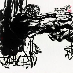 "Pan Gongkais In k and Wash Work Long Summer 2013 68cm×68cm 290x290 - ""Pan Gongkai: Dispersion and Generation"" at Today Art Museum Opens Mar. 9, 2013"