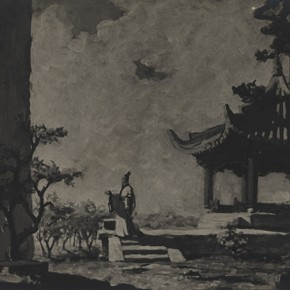 "Qi Mudong Draft of Stage Design of ""Qu Yuan"" the graduated creation 01 1956 57 Collection Qi Mudong' Family  290x290 - The 20th China's Art Road - Studying in the Soviet Union Inaugurated at National Art Museum of China"