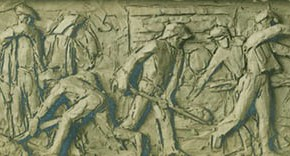"Situ Zhaoguang ""Steelworkers"" 1965 relief lost  290x156 - The 20th China's Art Road - Studying in the Soviet Union Inaugurated at National Art Museum of China"