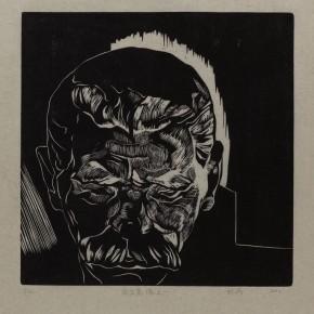 """Wu Jiang, """"Gorky No.1"""", 2012; woodcut, 30 x 30 cm"""