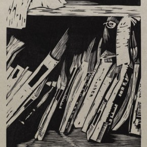 """Wu Jiang """"New Magazine"""" 2011 woodcut 63 x 30.1 cm 290x290 - """"Review What You Have Learned and Learn the New: Wu Jiang's Woodcuts"""" Held at the Central Academy of Fine Arts"""