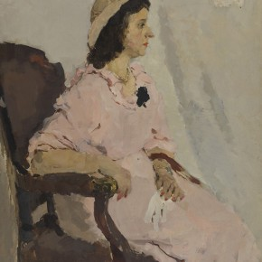 "Xu Minghua ""Woman Dressing in Pink"" 1959 oil painting 80 x 100 cm 290x290 - The 20th China's Art Road - Studying in the Soviet Union Inaugurated at National Art Museum of China"