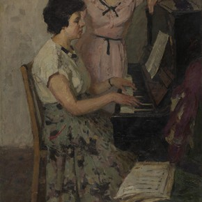 "Zhang Huaqing ""Practice"" 1961 oil painting 154 x 86 cm 290x290 - The 20th China's Art Road - Studying in the Soviet Union Inaugurated at National Art Museum of China"