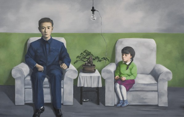 "Zhang Xiaogang, ""My Father"", 2012; Oil on canvas, 140x220cm"
