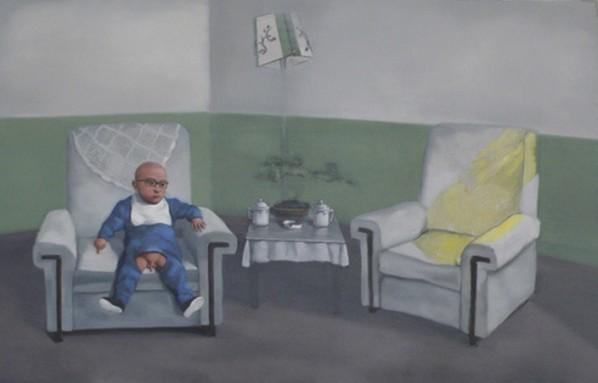 "Zhang Xiaogang, ""The Position of Father"", 2013; Oil on canvas, 140x220cm"
