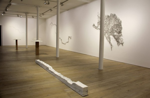 00 Overall Installation View of Maya Lin's Solo Show at Pace Gallery, London image © designboom