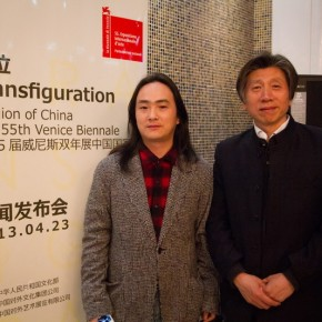 "07 Artist Shu Yong and Fan Di an 290x290 - Press Conference of the ""Exhibition of Chinese Pavilion for the 55th Venice Biennale"" Held in Beijing"