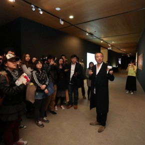 09 Han Jiaying introduced his work to the audience at the opening of Reflection Han Jiaying's Exhibition of Design 290x290 - Reflection: Han Jiaying's Solo Exhibition Featuring His Design Opened at the CAFA Art Museum