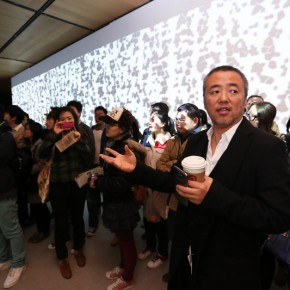 10 Han Jiaying introduced his work to the audience at the opening of Reflection Han Jiaying's Exhibition of Design 290x290 - Reflection: Han Jiaying's Solo Exhibition Featuring His Design Opened at the CAFA Art Museum