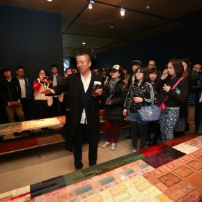 11 Han Jiaying introduced his work to the audience at the opening of Reflection Han Jiaying's Exhibition of Design 290x290 - Reflection: Han Jiaying's Solo Exhibition Featuring His Design Opened at the CAFA Art Museum