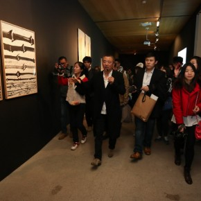 13 Han Jiaying introduced his work to the audience at the opening of Reflection Han Jiaying's Exhibition of Design 290x290 - Reflection: Han Jiaying's Solo Exhibition Featuring His Design Opened at the CAFA Art Museum