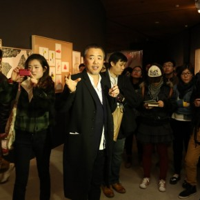 14 Han Jiaying introduced his work to the audience at the opening of Reflection Han Jiaying's Exhibition of Design 290x290 - Reflection: Han Jiaying's Solo Exhibition Featuring His Design Opened at the CAFA Art Museum