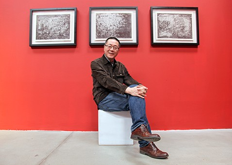 Artist Wang Huangsheng sitting in the hot seat with Berlin Art Parasites. Photo by C. Phillips