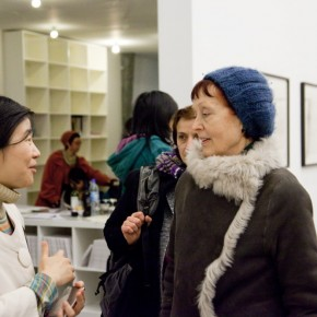 Chen Yang introduces the exhibition to collector Erika Hoffmann.jpg 290x290 - In The Hot Seat With Wang Huangsheng by Berlin Art Parasites