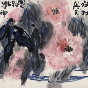 "Dong Xinbin ""First Peony Figure"" 34.5 x 45.5 cm colored ink on paper"" 1993 290x290 - Zealous Guests– Memorial Exhibition for the 10th Anniversary of Dong Xinbin's Death at Yan Huang Art Museum"