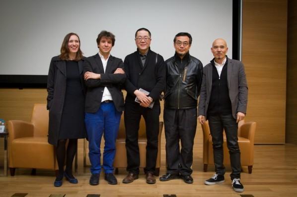 Group Photo of Yang Tianna, Adel, Wang Huangsheng, Sui Jianguo, and Yang Jiechang