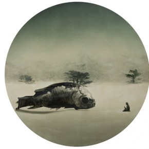 "Liu Jinghong ""Epiphany No.3"" diameter 150 cm oil on canvas 2011 290x290 - Liu Jinghong & Fan Xuqi's Solo Exhibitions: the Third Round of ""Cream of the Corp – Youth Artists' Solo Exhibitions"""
