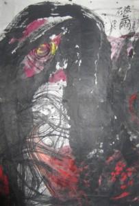 """Shen Aiqi """"Breaking the Cocoon"""" 195×283 cm 2012  203x300 - Shen Aiqi, """"Breaking the Cocoon"""", 195×283 cm, 2012"""