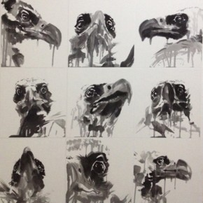 "Shen Qin, ""Words of Eagle Series No.1"", ink on paper, 140×150 cm, 2012"