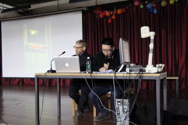 "View of ""Discovery of the Social Landscape"" Lecture by Prof. BJ Krivanek from School of the Art Institute of Chicago 01"