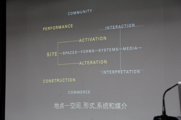 "View of ""Discovery of the Social Landscape"" Lecture by Prof. BJ Krivanek from School of the Art Institute of Chicago 02"