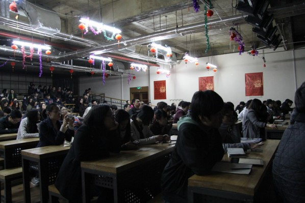 "View of ""Discovery of the Social Landscape"" Lecture by Prof. BJ Krivanek from School of the Art Institute of Chicago 03"