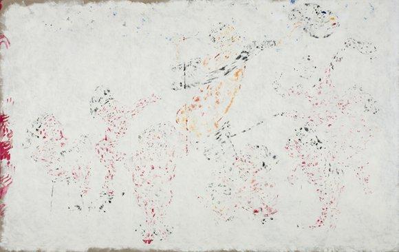 "Xie Nanxing, ""Mug Matt"", 2011; oil on canvas, 190.5x300cm"