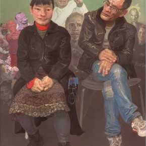 """Xin Dongwang """"Inquiry"""" 160 x 130 cm 2012  290x290 - Images Generated from the Mind - Art Exhibition of Xin Dongwang"""