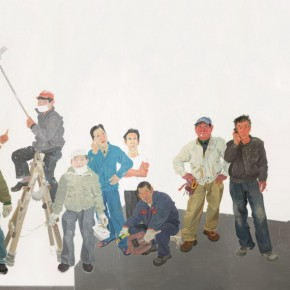"""Xin Dongwang """"Team"""" 680 x 460 cm 2012 acrylic on canvas 290x290 - Images Generated from the Mind - Art Exhibition of Xin Dongwang"""