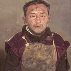 """Xin Dongwang """"Traveling Lama"""" oil on canvas  290x290 - Images Generated from the Mind - Art Exhibition of Xin Dongwang"""