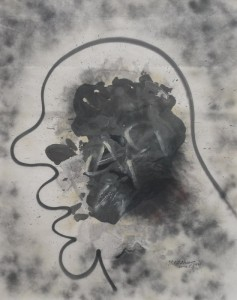 "Zhang Dali ""N.1"" ink and spray paint on paper 189.5×151 cm 2008 237x300 - Zhang Dali, ""N.1"", ink and spray paint on paper, 189.5×151 cm, 2008"