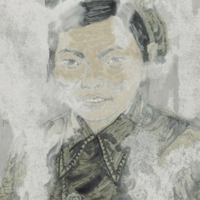 "Zheng Qiang, ""Past Beijing China in 1951"", ink on paper, 2012"