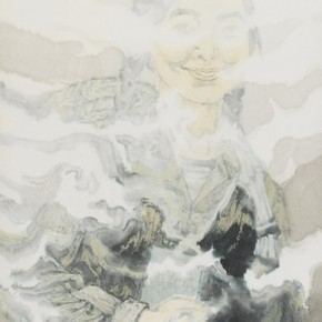 "Zheng Qiang, ""Past Honghu China in 1971"", ink on paper, 2012"