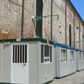 02 Temporary ticket booths on the street led to the pavilions 290x290 - Latest News from the Chinese Pavilion of the 55th Venice Biennale: Organization of the order of the Exhibition, Catalog Published in Italy