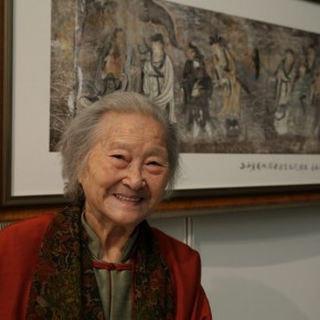 07 Ms. Zou Peizhu 290x290 - Paying Special Regard to Domestic Treasure: Photography Exhibition of Shanxi Ancient Murals by Wu Pu-ao Grandly Inaugurated at CAFA Art Museum