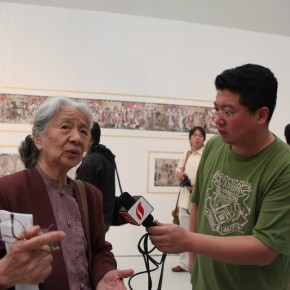 08 Chang Sha na old professor from Academy of Art Design Tsinghua University  290x290 - Paying Special Regard to Domestic Treasure: Photography Exhibition of Shanxi Ancient Murals by Wu Pu-ao Grandly Inaugurated at CAFA Art Museum