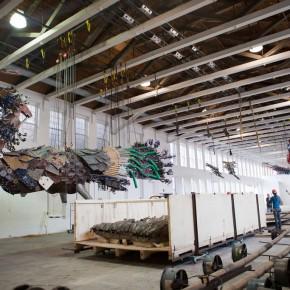 10 Work Photo of Phoenix by Xu Bing at MASS MoCA 290x290 - Xu Bing: Phoenix, Featuring Monumental Sculpture, on View at MASS MoCA