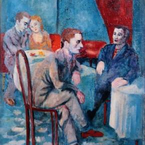 "Aligi Sassu ""Blue Café"" oil on canvas 64 x 48 cm 1934 290x290 - The Heart of Innocence – A Centennial Retrospective of Aligi Sassu Inaugurated at the CAFA Art Museum"