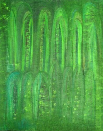 Green Cactus by Lorraine Pinto, 80x100cm