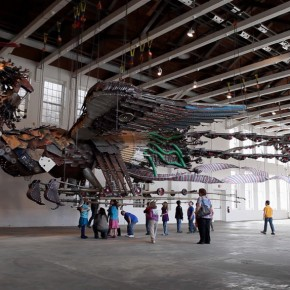 Installation View of Phoenix by Xu Bing at MASS MoCA 06 290x290 - Xu Bing: Phoenix, Featuring Monumental Sculpture, on View at MASS MoCA