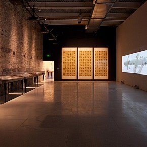 Installation View of The Characters of Chinese Written Words by Xu Bing at MASS MoCA 01 290x290 - Xu Bing: Phoenix, Featuring Monumental Sculpture, on View at MASS MoCA