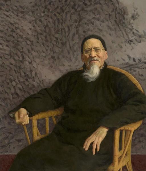 Jin Shangyi, Huang Binhong, 1996, 115x99cm