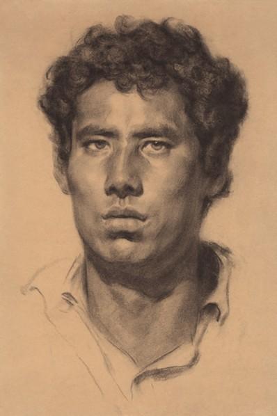 Jin Shangyi, Tibetan Herdsman, 1978, 39.3x26.2cm