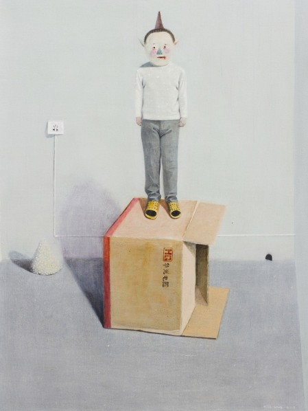 "Mi Jie, ""Here I Am, Without a Move V"", 2012;  acrylic on canvas, 120×90cm"