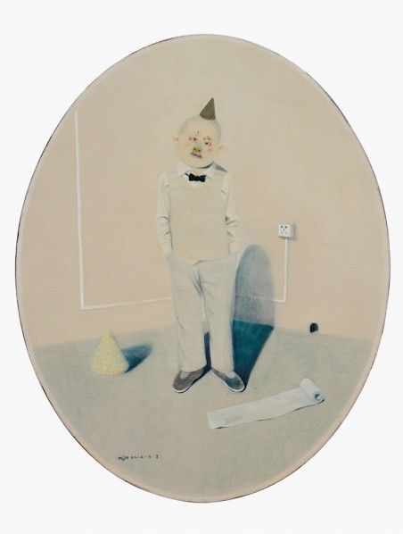 "Mi Jie, ""Here I Am,  Without a Move VI"", 2012;  acrylic on canvas, 100×80cm"