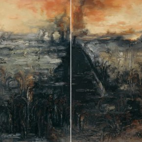 "Su Xinping ""Landscape Series II No.17"" 80 x 240 cm oil on canvas 2008  290x290 - Pending – Su Xinping's Solo Exhibition to be inaugurated at the Art Museum of Nanjing University of Fine Arts"