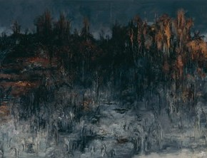 "Su Xinping ""Landscape Series II No.19"" 2008 oil on canvas 130 x 585 cm 290x222 - Pending – Su Xinping's Solo Exhibition to be inaugurated at the Art Museum of Nanjing University of Fine Arts"
